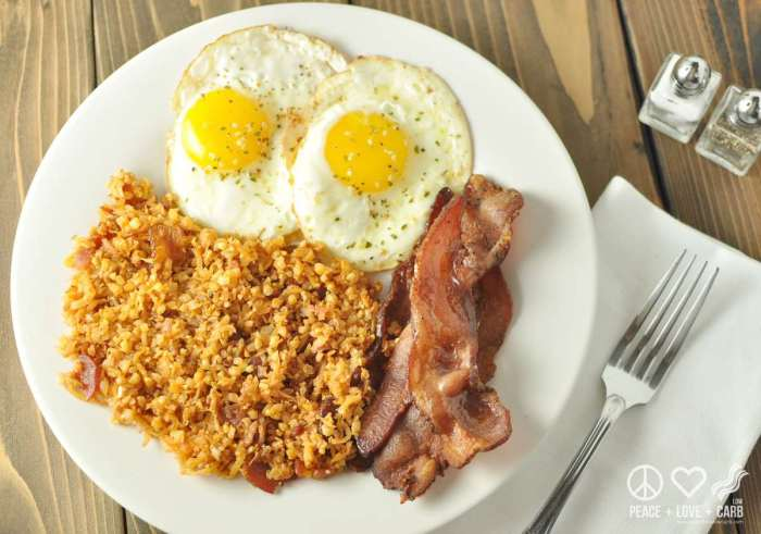 Fried Radish and Cauliflower Hash Browns with Bacon - Paleo, Low Carb | Peace Love and Low Carb