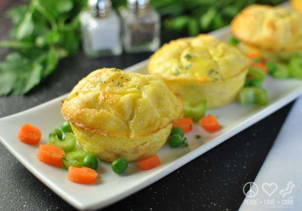 Chicken Pot Pie Egg Muffins | Peace Love and Low Carb