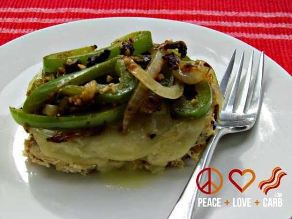 Chicken Philly Mini Meatloaf | Peace Love and Low Carb