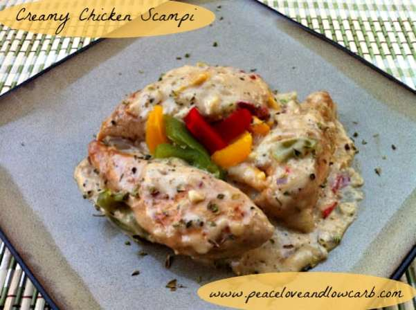 Creamy Chicken Scampi | Peace Love and Low Carb