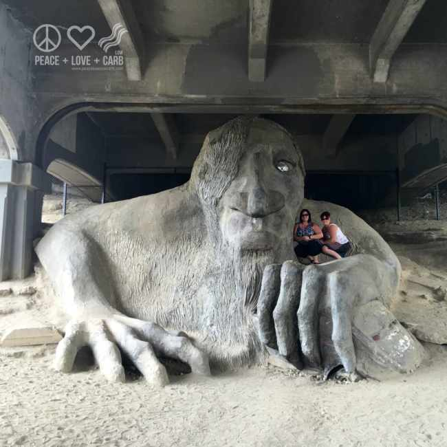 Fremont Troll - Seattle   Peace Love and Low Carb