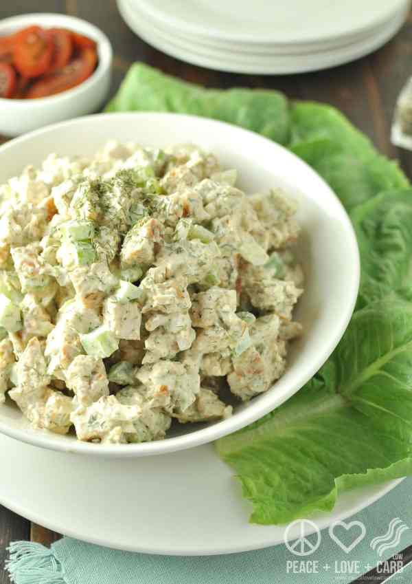 Dill Chicken Salad - Low Carb, Paleo | Peace Love and Low Carb