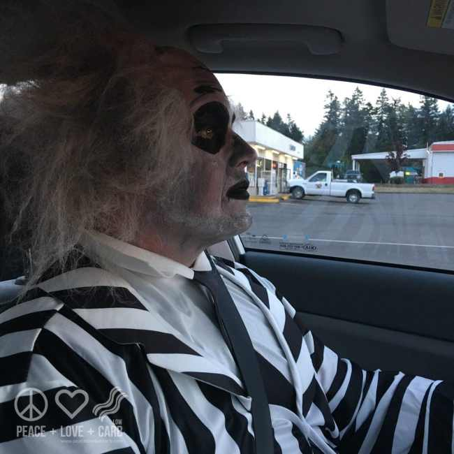 Jon in his Beetlejuice Costume | Peace Love and Low Carb