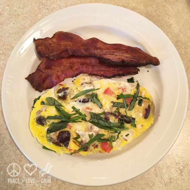 Mediterranean Baked Eggs and Bacon | Peace Love and Low Carb