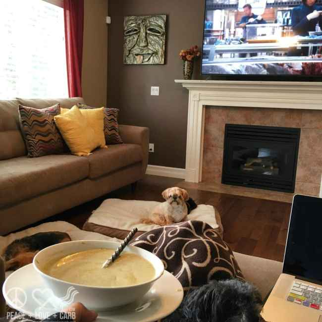 Cozy Soup, Pups and Netflix Kind of Day | Peace Love and Low Carb