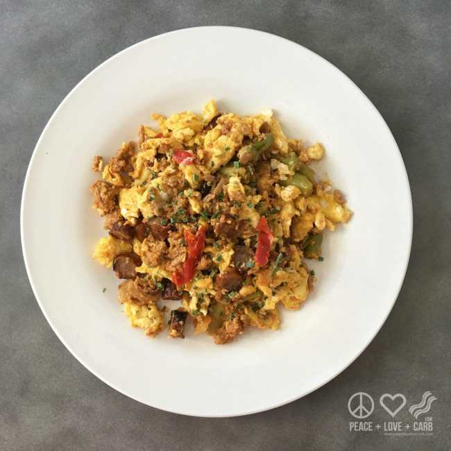 Leftover Breakfast Scramble   Peace Love and Low Carb
