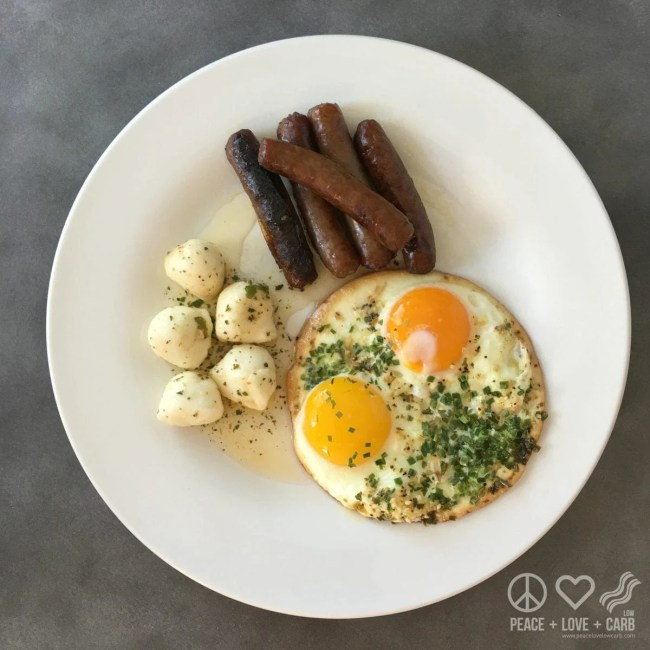 Sausage, Eggs and Fresh Mozzarella   Peace Love and Low Carb