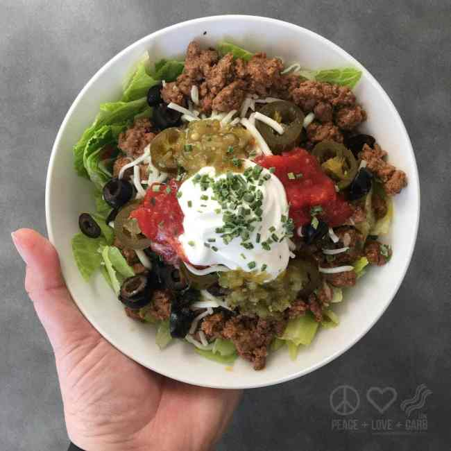 Keto Taco Bowl for Taco Tuesday | Peace Love and Low Carb