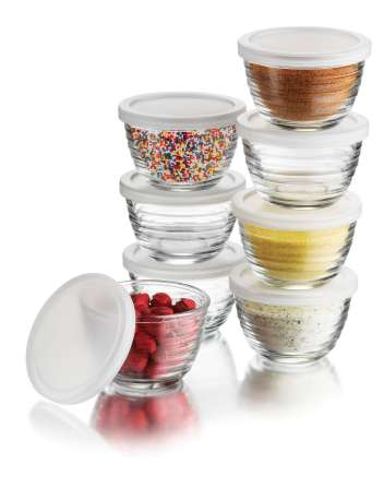 Libby Glass Prep Bowls With Lids
