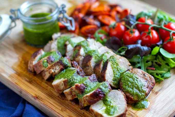 Keto Taco Tuesday Recipes - Roasted Pork Tenderloin With Salsa Verde & Balsamic Carrots - Low Carb | Peace Love and Low Carb