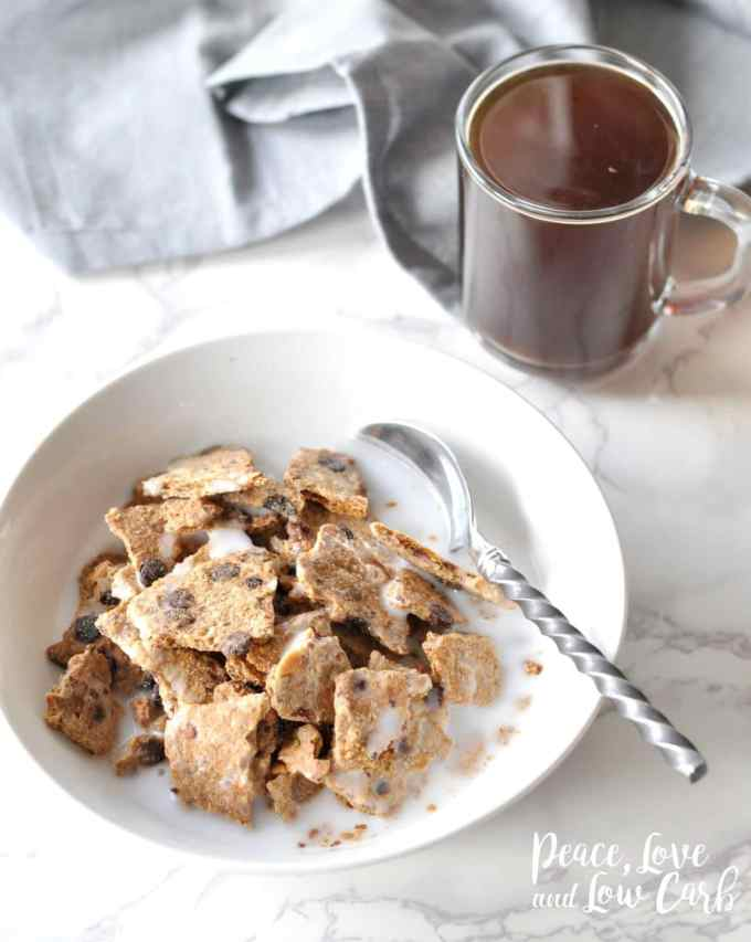 Almond Chocolate Chip Granola Cereal - Low Carb, Paleo