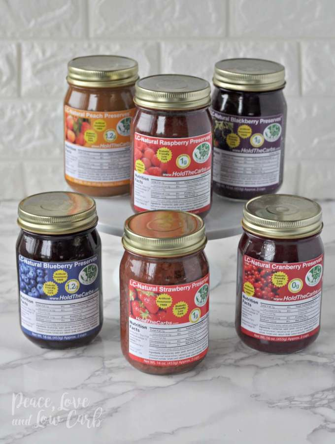 Low Carb Keto Natural Preserves Jam | Peace Love and Low Carb