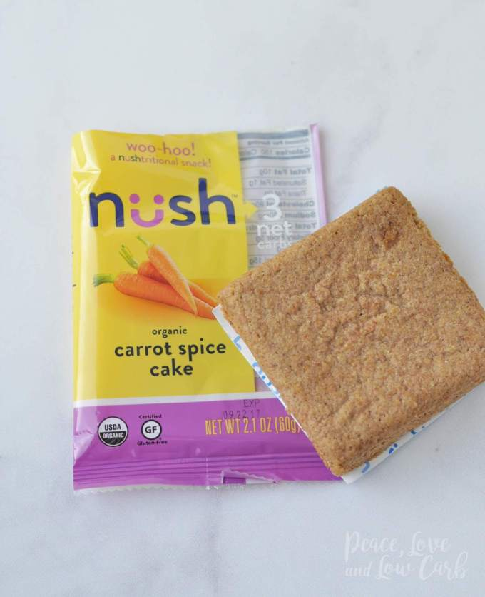 Carrot Spice Cake Nush Low Carb Keto Snack Cakes - Peace Love and Low Carb