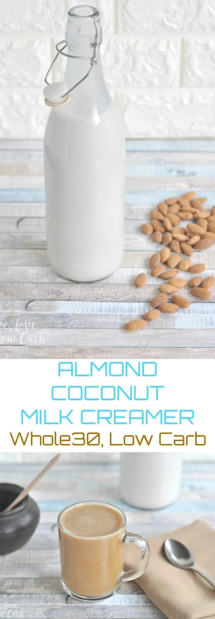 Low Carb Whole30 Almond Coconut Milk Creamer