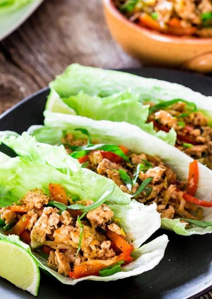 Hoisin Chicken lettuce Wraps   Chef Savvy