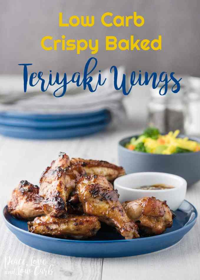 Low Carb Crispy Baked Teriyaki Wings - Peace Love and Low Carb