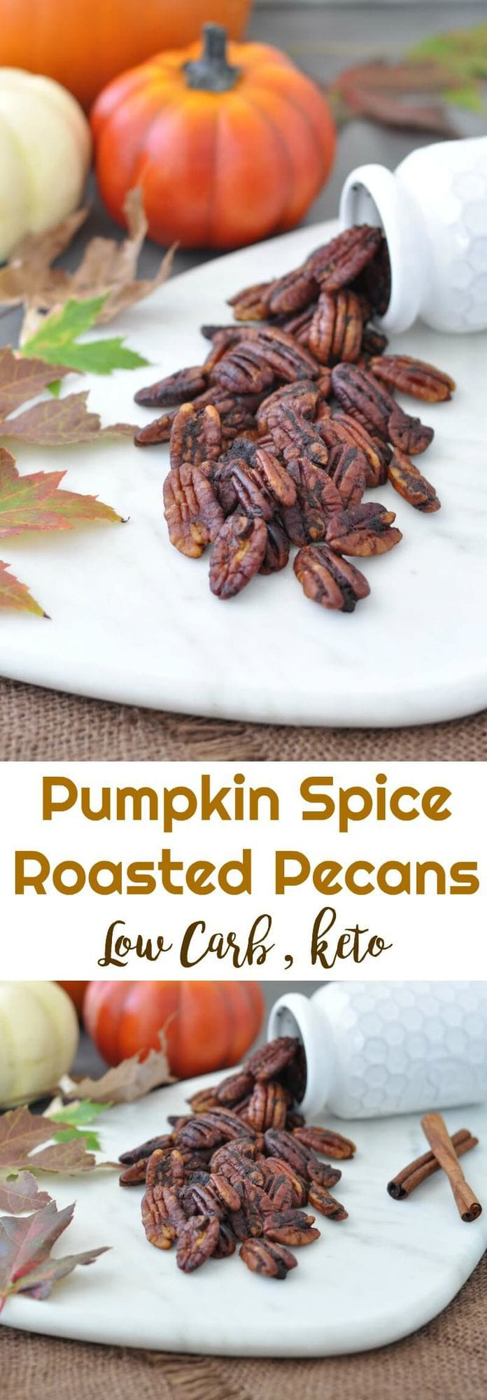 Low Carb Pumpkin Spice Roasted Pecans | Peace Love and Low Carb