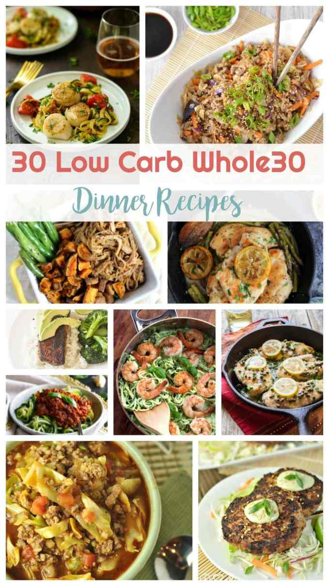 30 Low Carb Whole 30 Dinner Recipe | Peace Love and Low Carb
