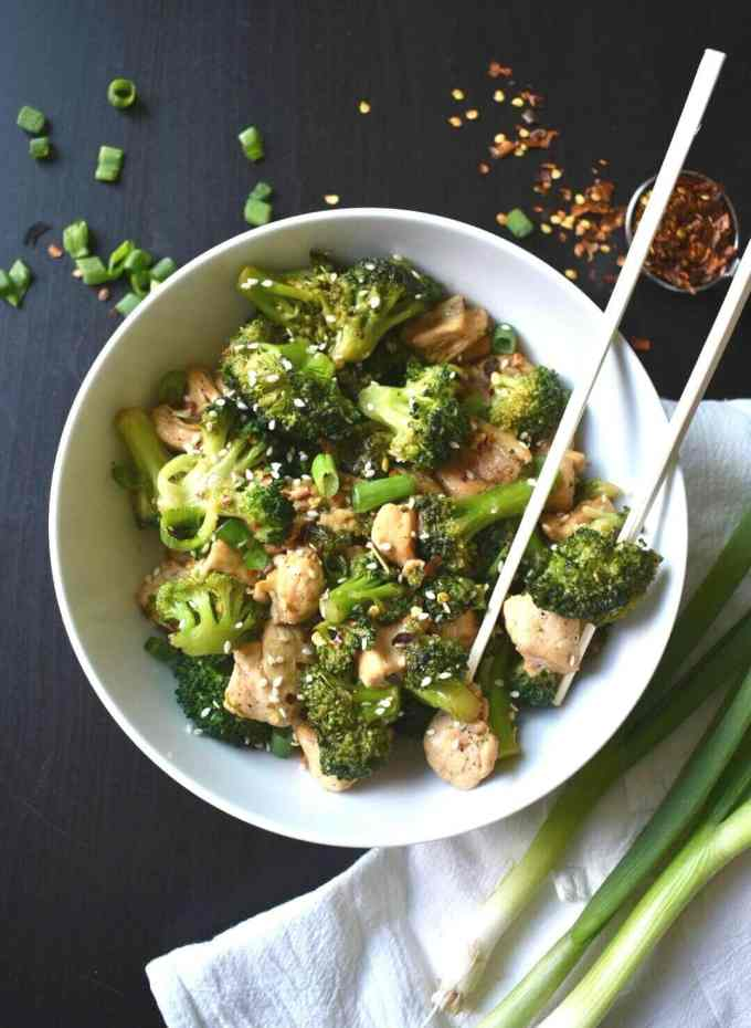 One Pot Keto Sesame Chicken And Broccoli Peace Love And Low Carb