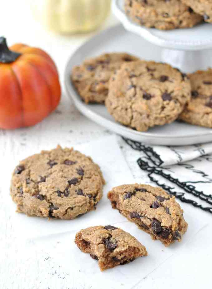 Keto Pumpkin Spice Chocolate Chip Cookies   Peace Love and Low Carb