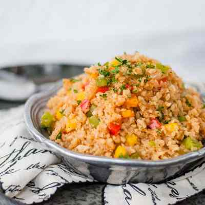 Keto Cajun Cauliflower Rice | Peace Love and Low Carb