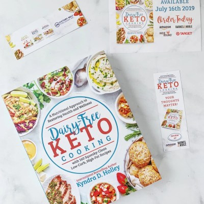 Dairy Free Keto Cooking GIVEAWAY Extravaganza - 11 Weeks of giveaways for the launch of my new book. Prizes from brands like Redmond Real Salt, Blendtec, Perfect Keto, Equip, Lily's and More...