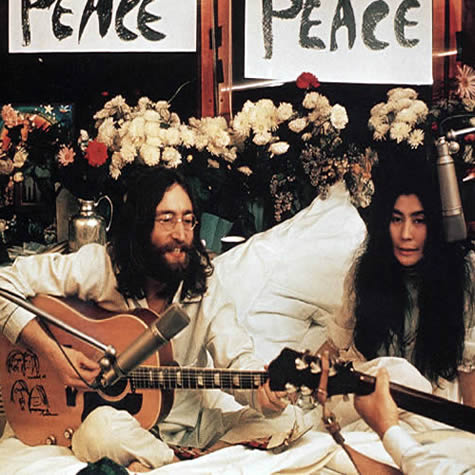 Image result for john lennon and yoko ono give peace a chance