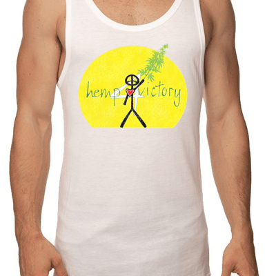 Hemp for Victory Printed on Front of Bamboo/Organic Cotton Tank