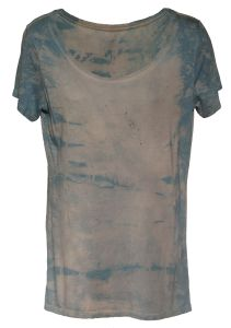 Bamboo Scoop neck dyed with Indigo and Iron