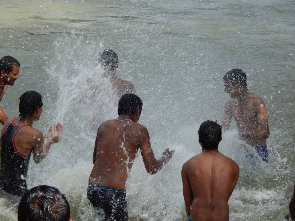 Splish Splashing at Kaveri river banks