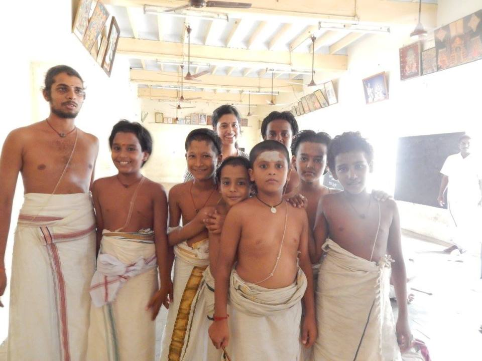 Me and little mini Vedic scholars from Mandurantakam Sanskrit College