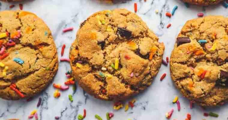 Confetti Chocolate Chip Cookie (grain free, Paleo version)
