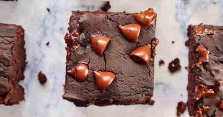 Flourless Black Bean Brownies (gluten free, dairy free, soy free)