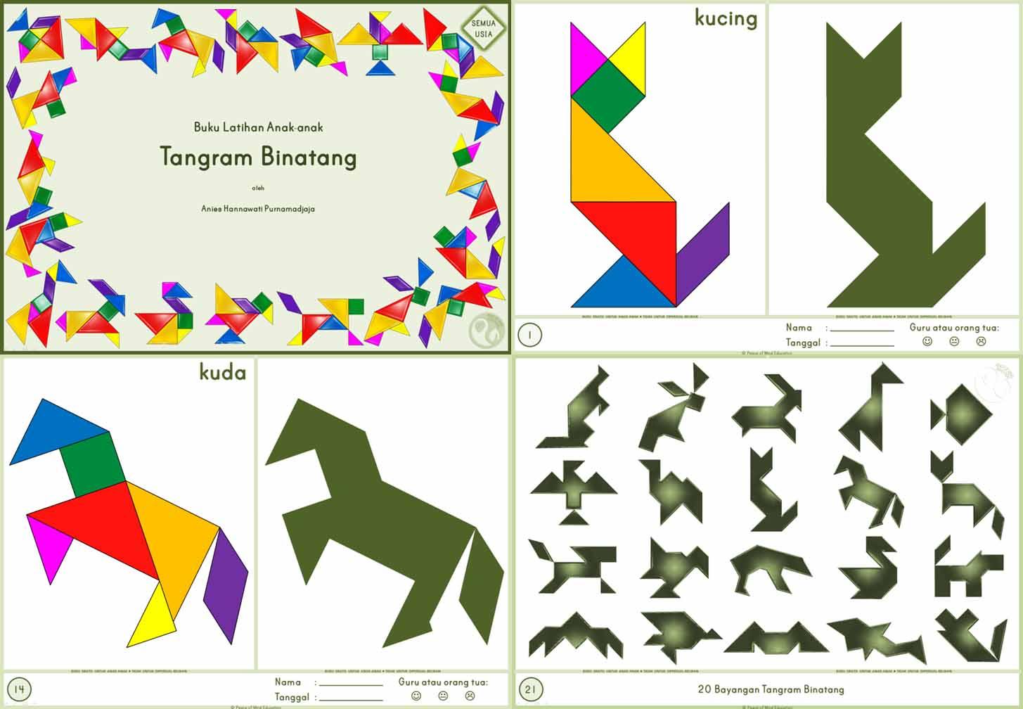 002 Tangram Binatang Semua Usia