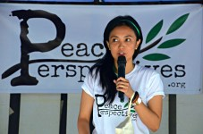Dahlia Simangan, our co-founder and Executive Director, explaining the mission-vision of Peace Perspectives