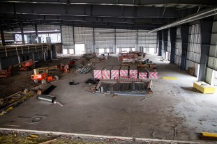 View of the fieldhouse from the second floor.