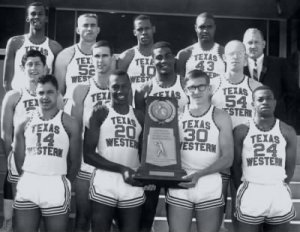 Team photo of Texas Western's win at the 1966 championship.