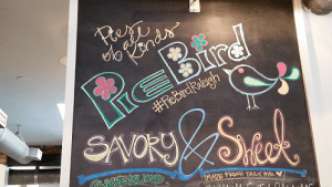 artfully composed chalkboard