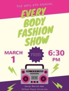 WPU Every Body Fashion Show poster