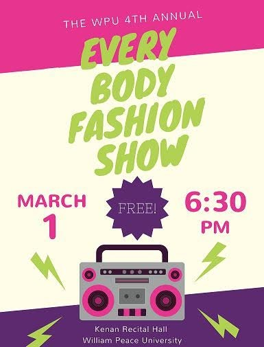 WPU Every Body Fashion Show poster