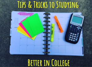 Planner with a calculator, notecards, and highlighters
