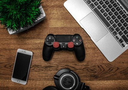 Gaming console, computer, and cellphone.