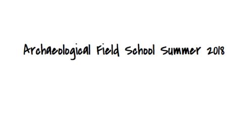 Archeological Field School