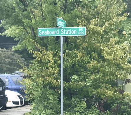 Seaboard Station Road Sign