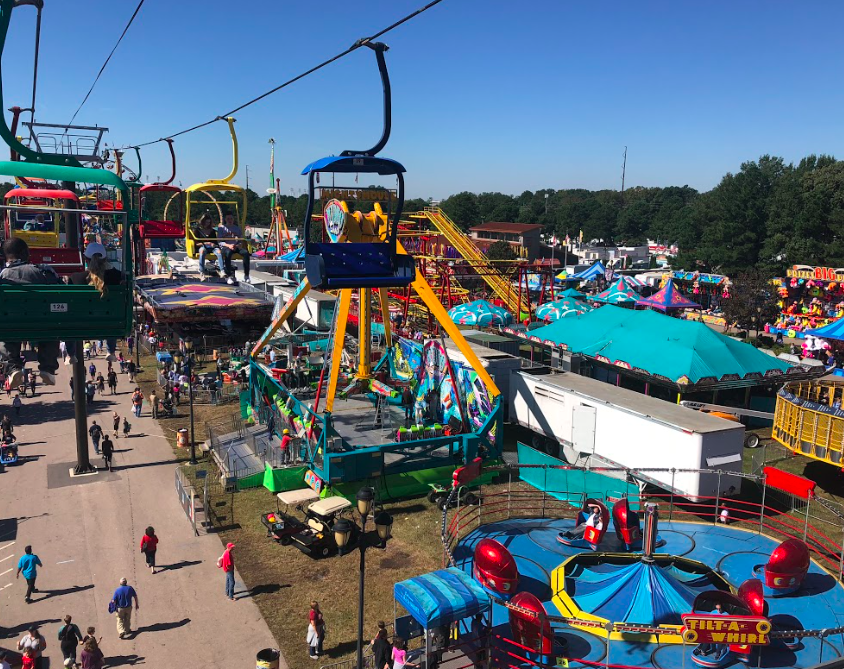 View of the State Fair from Sky Lift