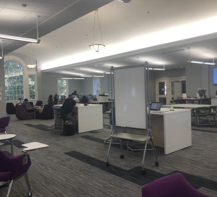 Renovations to 2nd floor library