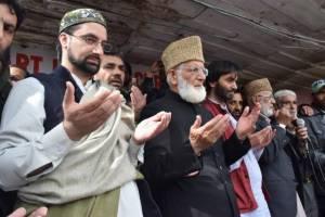 Mirwaiz Umar and Geelani Narabal
