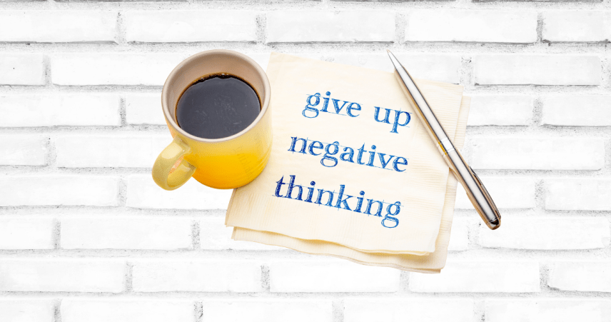 Give up negative thinking to overcome adversity