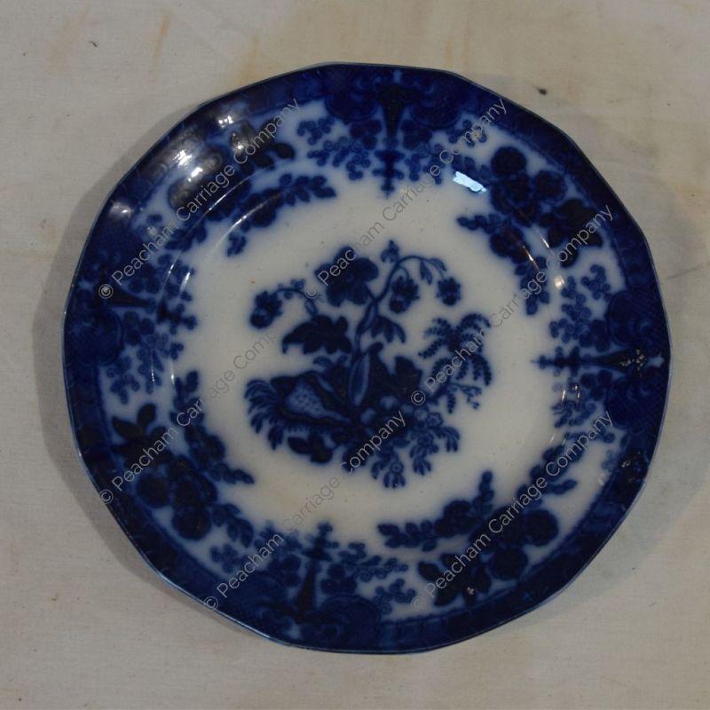 Flow-blue Dinner Plate