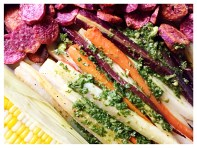 Roasted Carrots with Green Sauce